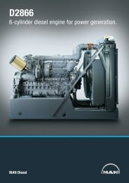 6-cylinder diesel engine for power generation. - MAN Diesel & Turbo ...
