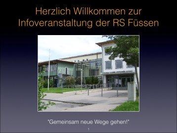klicken... - Internetauftritt der Realschule Füssen