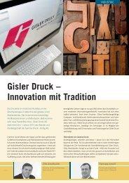 Gisler Druck – Innovation mit Tradition - Image-uri.ch