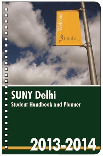 Student Handbook - SUNY Delhi