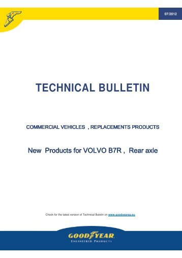Technical bulletin, new Volvo B7R, 07/2012 - Online catalogue