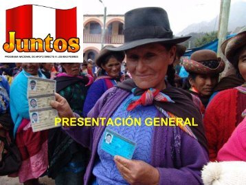 Presentación General. Programa Juntos - Mesa de Concertación ...