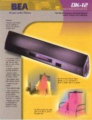 Cut Sheet - B.E.A., Inc.