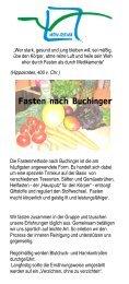 Fasten nach Buchinger - HOY-REHA GmbH