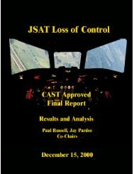 JSAT Loss of Control - Commercial Aviation Safety Team