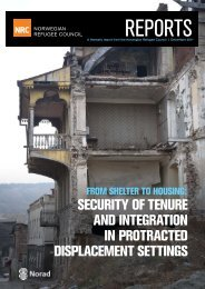 security of tenure and integration in protracted displacement settings