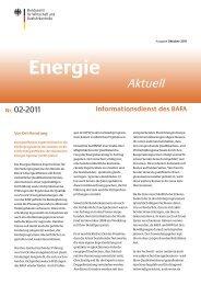 Energie Aktuell – Ausgabe Oktober 2011 - Bundesamt für Wirtschaft ...