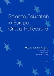 Sci Ed in Europe Report Final