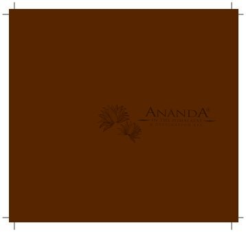 Download Brochure - Ananda