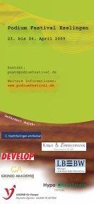 Festival `09 Esslingen - Podium Festival - Seite 6