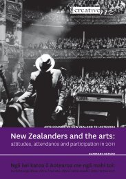 New Zealanders and the arts: - Creative New Zealand