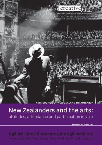 New Zealanders and the arts: - Creative New Zealand