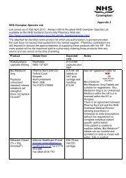 NHS Grampian Specials List April 2013 - Community Pharmacy