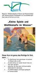 """""""Kleine Spiele und Wettkämpfe im Wasser"""" - HOY-REHA GmbH"""