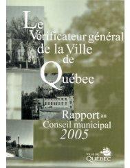Rapport annuel 2005 - Ville de Québec