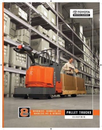 Pallet truckS - Toyota Material Handling, U.S.A., Inc.