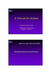 A Tutorial for Eclipse - cserg