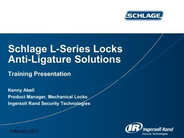 Schlage L-Series Locks Anti-Ligature Solutions - Access Hardware ...