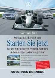 Starten Sie Jetzt - Autohaus Hornung GmbH & Co. KG
