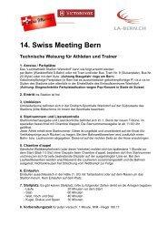 14. Swiss Meeting Bern Technische Weisungen - LA-Bern