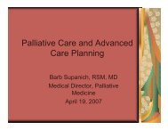 Palliative Care and Advanced Care Planning - Holy Cross Hospital