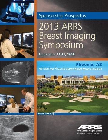 2013 ARRS Breast Imaging Symposium - American Roentgen Ray ...