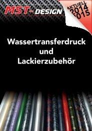MST-Design Wassertransferdruck und Lackierzubehör Katalog