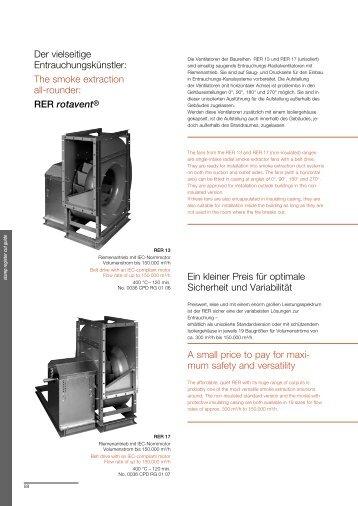RER rotavent® Ein kleiner Preis für optimale Sicherh - klimasystem.sk