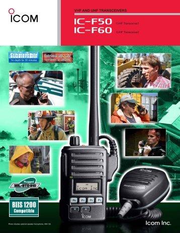 LMR_IC-f50_f60_FM Brochure.pdf - Icom Australia