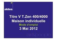 Titre V T.Zen 400/4000 Maison individuelle 3 Mai 2012 - Aldes