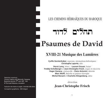 Psaumes de David - CD Baroque - K617