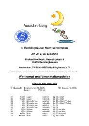 Ausschreibung 4. Recklinghäuser Nachtschwimmen 2013 - DSV