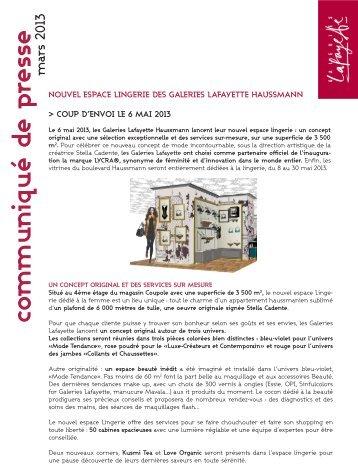 pdf CP - Galeries Lafayette Haussmann / Nouvel Espace Lingerie ...