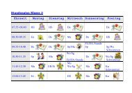 Stundenplan Klasse 3 - Grundschule Bottendorf