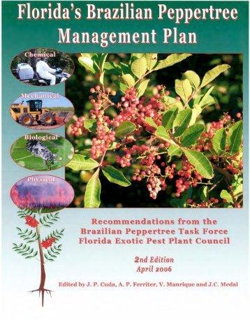 Brazilian Pepper Management Plan - Florida Exotic Pest Plant Council