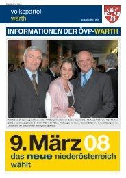 INFORMATIONEN DER ÖVP-WARTH