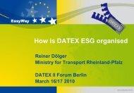 ESG DATEX How is it organised - datex2