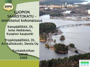 Kuopion saaristokatu - onnistunut kokonaisuus ... - Kuntatekniikka.Fi