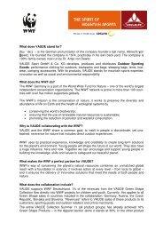 WWF VAUDE FAQ english