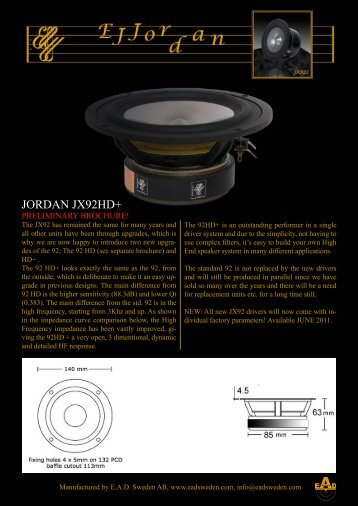 JORDAN JX92HD+ - audio alchemy