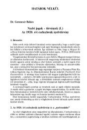 Nyelvi jogok – törvények (I.) Az 1920. évi csehszlovák nyelvtörvény ...
