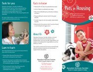 Pets in Housing Brochure - Hawaiian Humane Society