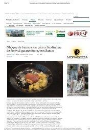 Produtos típicos do litoral paulista compõem o sabor do nhoque de ...