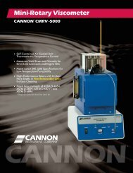 Mini-Rotary Viscometer CMRV-5000 - Cannon Instrument Company