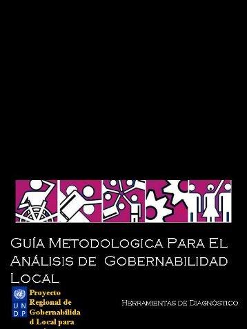 Guía metodológica para el análisis de gobernabilidad local