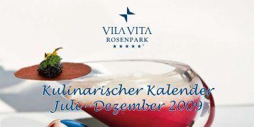 Kulinarischer Kalender Juli – Dezember 2009