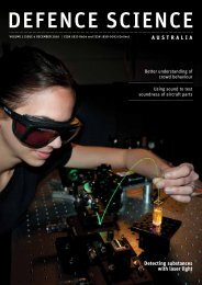 DSA Volume 1 Issue 4 December 2010 - Defence Science and ...