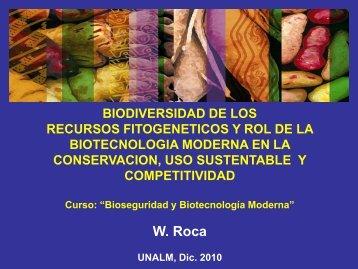 Biodiversidad de los recursos genéticos vegetales y ... - LAC Biosafety