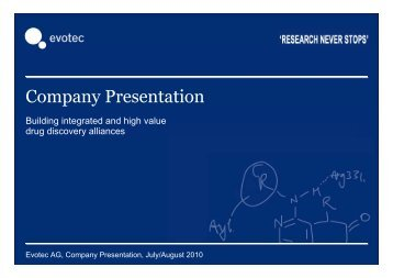 Company Presentation - Evotec
