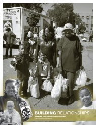 building relationships - Greater Chicago Food Depository